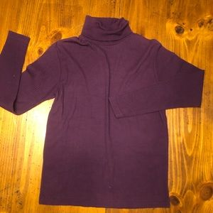 Purple turtle neck sweater